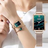 Relógio mais pulseira dourada super promoção Ref 2845