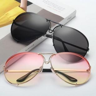Óculos de verão 2021 grande redondo grife blogueira Ref 2451