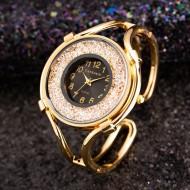 Relógio quartzo feminino com pedrarias Ref 2844