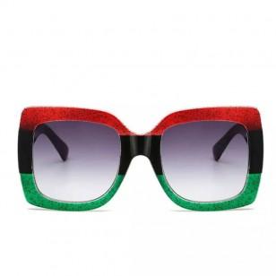Óculos de grife armação vermelho e verde mexicana Ref 2473