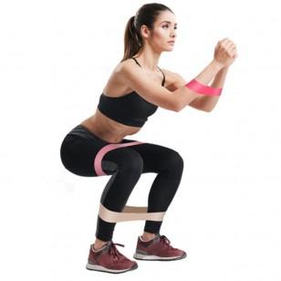Kit rosa premium 5 faixas bandas látex yoga exercícios em casa Ref 2102