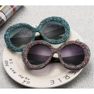 Óculos com armação de pedrinhas brilhantes Ref 2822