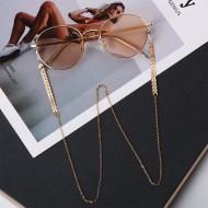 Corrente de óculos dourada cordão feminino Ref 2660