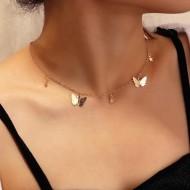 Colar gargantilha borboletas delicado feminino Ref 2542