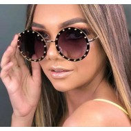 Óculos redondo com pedras lançamento 2021 blogueira Ref 2513