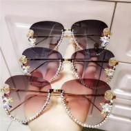 Óculos aviador com pedras brilhantes Swarovski Ref 2638