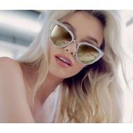 Óculos armação mármore lente dourada espelhada Ref 2633
