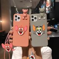Capinha de Iphone 12 pro max Tom e Jerry 3D Ref 2962