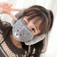 Máscara infantil de pelúcia com protetor ouvidos Ref 2981