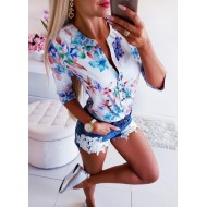 Blusa floral luxo tendências 2020 Ref 1349