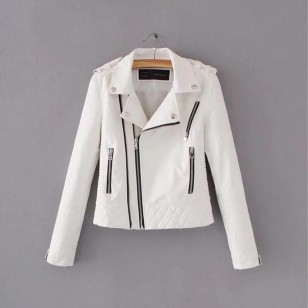 Jaqueta de couro feminina alta qualidade Ref 1456