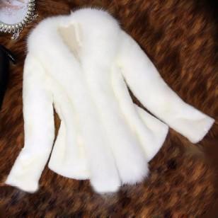 Casaco de pele inverno luxo manga longa Ref 1461