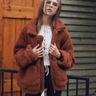 Jaqueta de inverno pele feminina Ref 1409