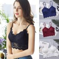 Top cropped renda floral crochê Mariana coleção nova Ref 2352