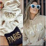 Blusa de inverno Paris capuz peluciada Ref 2140