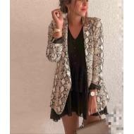 Terno feminino estampa pele cobra casaco blazer Ref 2678