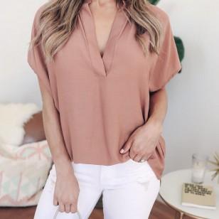 Camisa blusa feminina fina estampa chiffon elegante moda verão Ref 2369