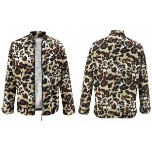 Jaqueta estampada animal print inverno elegante Ref 2946