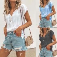 Blusinha feminina chique boutique chiffon Ref 2115