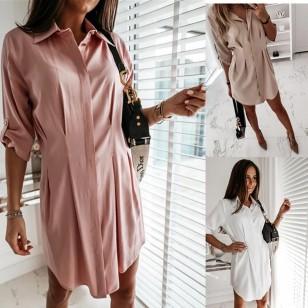 Camisa longa fina elegante feminina executiva Ref 3007