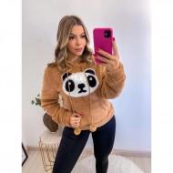 Blusa feminina inverno estampa de panda Ref 2980