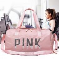 Bolsa de ombro viagem feminina pink Ref 1124