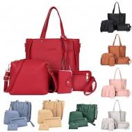 Kit com 3 bolsas e 1 carteira feminino promoção Ref 2145