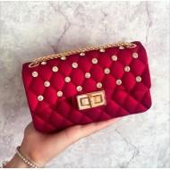 Bolsinha de mão feminina luxo vermelha Ref 1278