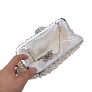 Bolsa de festa pérolas formatura madrinhas casamento Ref 1428