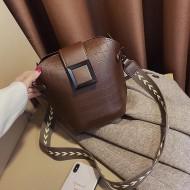 Bolsa marrom feminina couro luxo Ref 1266