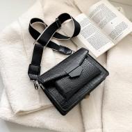 Bolsa luxo preta couro coleção 2020 Ref 1262