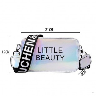 Bolsa menina bonita colorida neon brilhante Ref 1425