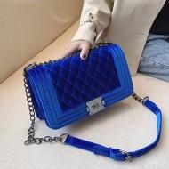 Bolsa grife luxo em veludo blogueiras Ref 1447