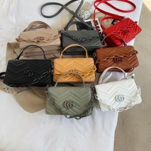 Bolsa de mão com alça ombro grife luxo lançamento Ref 2945