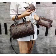 Conjunto de bolsas e carteiras 3 peças luxo boutique Ref 2481