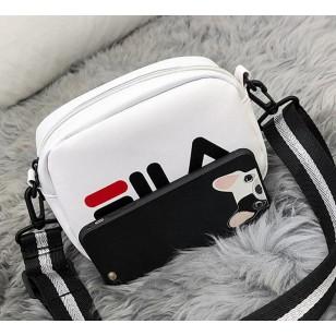 Bolsa de ombro feminina de couro com alça Ref 2940