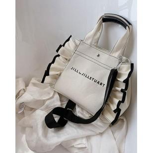 Bolsa grife luxo feminina fashion babados Ref 2941