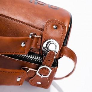 Bolsa original de couro moda casual Ref 2953