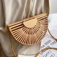 Bolsa de bambu madeira praia verão Ref 3362