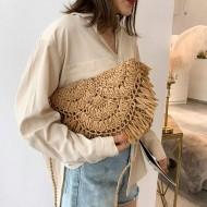 Bolsa de palha artesanal feito a mão Ref 3262