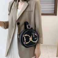 Bolsa de luxo redonda grife em couro Ref 3368