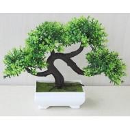 Bonsai árvore artificial em vaso quadrado decoração de casa Ref 1999