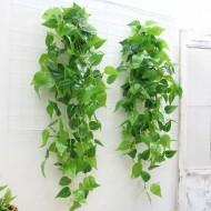5 armações de folhas verdes artificiais trepadeira para decoração Ref 2394