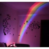 Aparelho de luz led arco-íris decoração infantil Ref 1565