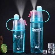 Garrafa esporte neon de água com spray Ref 1563
