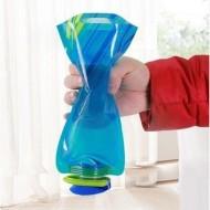 Garrafa de água reutilizável dobrável maleável prática Ref 2292