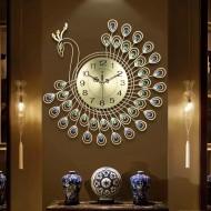 Relógio de parede pavão adiamantado Ref 1569