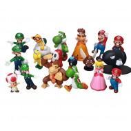 Coleção 18 bonecos Mário Bros decoração aniversário Ref 2726