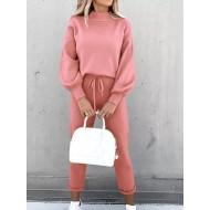 Conjunto casual leve confortável blusa e calça Ref 3167
