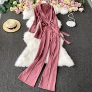 Conjunto feminino terno e calça pantalona Ref 3223
